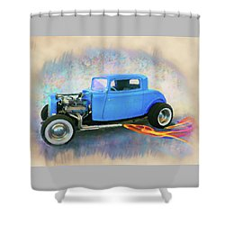 Blue 32 Ford Coupe Shower Curtain