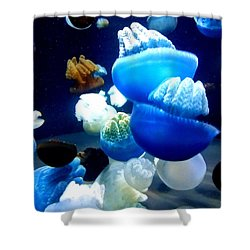 Shower Curtain featuring the photograph Blue Blubber  by Jennah Lenae