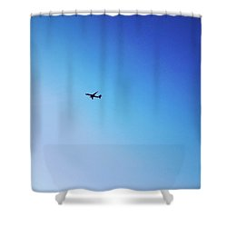 Shower Curtain featuring the photograph Blue Freedom by Lucia Sirna