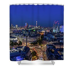 Shower Curtain featuring the photograph Blue Hour In London by Stewart Marsden