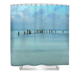 Blue Mayan Sea Shower Curtain