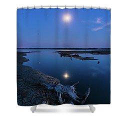Shower Curtain featuring the photograph Blue Moonlight by Davor Zerjav
