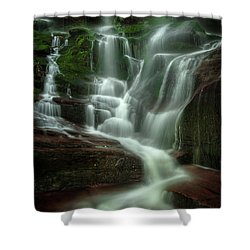 Blue Ridge Mountains Cascade Shower Curtain