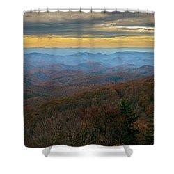 Blue Ridge Parkway - Blue Ridge Mountains - Autumn Shower Curtain