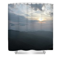 Blue Ridge Parkway Sunset Shower Curtain