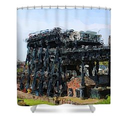 Boat Lift Shower Curtain