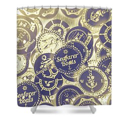 Boating Buttons Shower Curtain