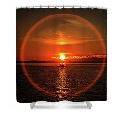 Boating In The Iris Shower Curtain