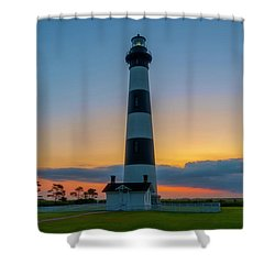 Shower Curtain featuring the photograph Bodie Island Lighthouse, Hatteras, Outer Bank by Cindy Lark Hartman