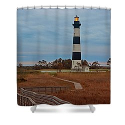 Bodie Island Lighthouse No. 4 Shower Curtain