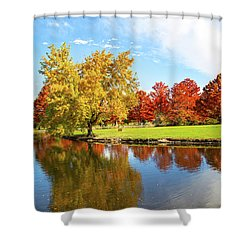 Shower Curtain featuring the photograph Boise Fall Foliage by Dart and Suze Humeston
