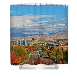 Shower Curtain featuring the photograph Boise In Fall by Dart and Suze Humeston