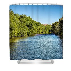 Shower Curtain featuring the photograph Boise River by Jon Burch Photography