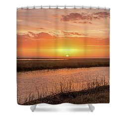 Shower Curtain featuring the photograph Bombay Hook Sunrise by Kristia Adams