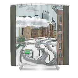 Boston After The Blizzard Shower Curtain