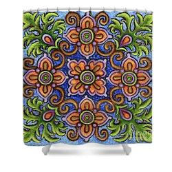 Botanical Mandala 1 Shower Curtain