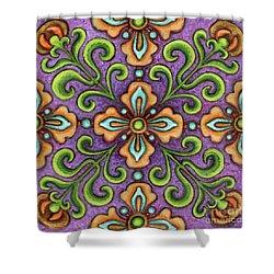 Botanical Mandala 10 Shower Curtain