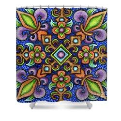 Botanical Mandala 3 Shower Curtain