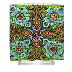 Botanical Mandala 4 Shower Curtain