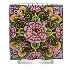 Botanical Mandala 5 Shower Curtain