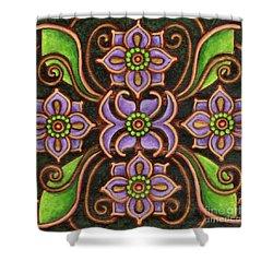 Botanical Mandala 6 Shower Curtain