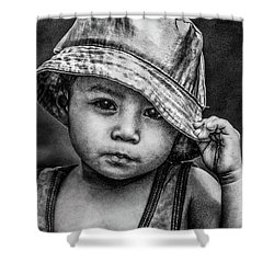 Shower Curtain featuring the photograph Boy-oh-boy by Michael Arend
