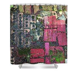 Brick Composition 3 Shower Curtain