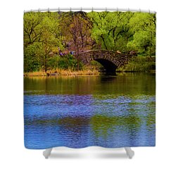Shower Curtain featuring the photograph Bridge In Central Park by Stuart Manning