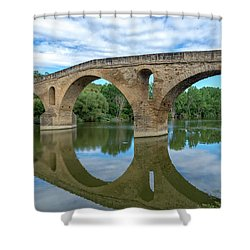 Bridge The Queen On The Way To Santiago Shower Curtain