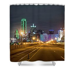 Shower Curtain featuring the photograph Bridge To Dallas by David Morefield