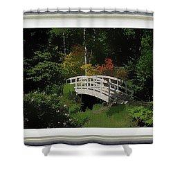 Bridge To The Azalea Gardens Shower Curtain
