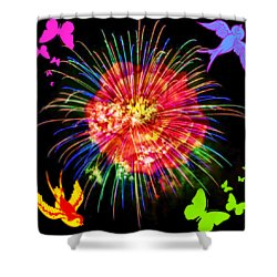 Bright Side Of Life Shower Curtain by Sabine ShintaraRose