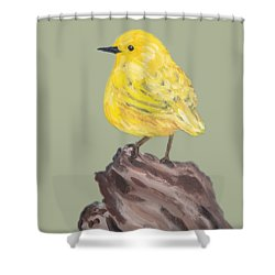 Shower Curtain featuring the painting Bright Spot #2 by Maria Langgle