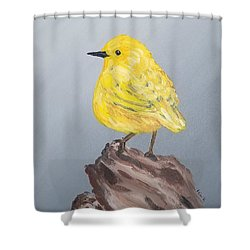 Shower Curtain featuring the painting Bright Spot by Maria Langgle