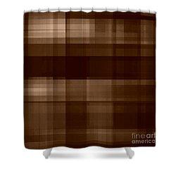 Shower Curtain featuring the digital art Brown Plaid by Rachel Hannah