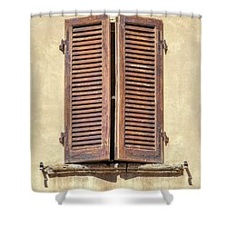 Brown Window Of Florence Shower Curtain