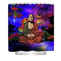 Buddhist Monk. Shower Curtain