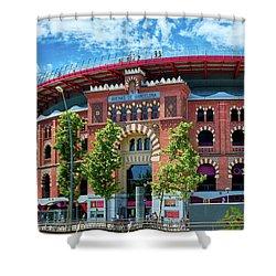 Shower Curtain featuring the photograph Bullring In Barcelona by Eduardo Jose Accorinti