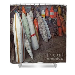 Buoys In A Sea Shack Shower Curtain