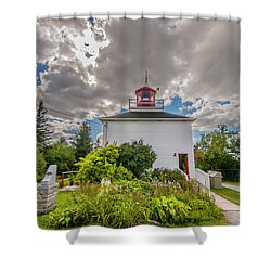 Burntcoast Head Lighthouse  Shower Curtain