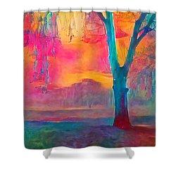 Bush Sunset  Shower Curtain