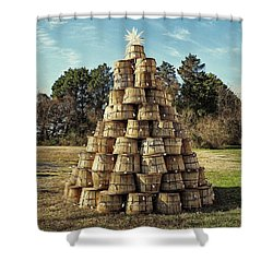 Shower Curtain featuring the photograph Bushel Basket Christmas Tree by Bill Swartwout Fine Art Photography