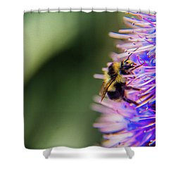 Shower Curtain featuring the photograph Busy Bee by Stuart Manning