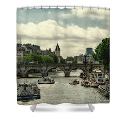 Busy Morning On The Seine Shower Curtain