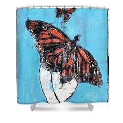 Butterfly Garden Summer 1 Shower Curtain