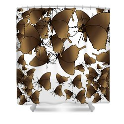 Butterfly Patterns 1 Shower Curtain