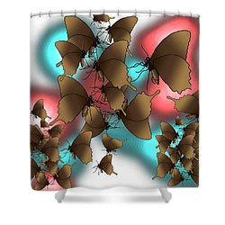 Butterfly Patterns 11 Shower Curtain