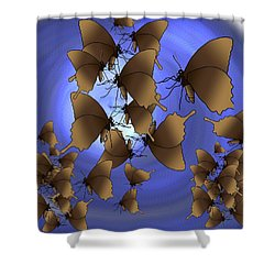 Butterfly Patterns 13 Shower Curtain