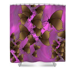 Butterfly Patterns 17 Shower Curtain