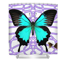 Butterfly Patterns 18 Shower Curtain
